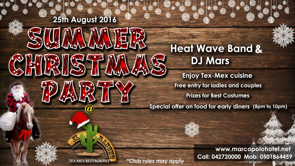 Summer Christmas Party-Elrancho